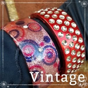 Vintage 80's bangle set